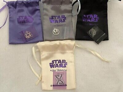 Star Wars Weekends 2015 HER UNIVERSE Star Wars Charms~Lot of 4 Rebel Jedi NEW