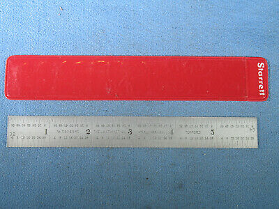"""STARRETT No. C304SRE 6"""" Scale / Rule with End Grads in Sleeve No Engravings"""