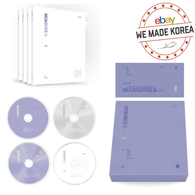 BTS Memories of 2018 DVD Blu-ray Ver. 4 Disc+Sticker+Photo Card+ETC Authentic MD