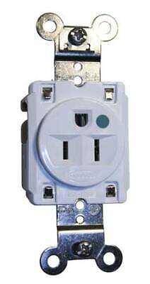 HUBBELL WIRING DEVICE-KELLEMS HBL8210W 15A Single Receptacle 125VAC 5-15R WH