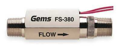 "GEMS SENSORS FS-380, 179992 3/8"" MNPT SPST NO Liquid Flow Switch 0.25 gpm"