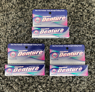 Lot of 3 Dr. Sheffield's Staydent Denture Adhesive Cream, 0.85 oz. Tubes