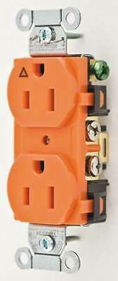 HUBBELL WIRING DEVICE-KELLEMS IG15CR 15A Duplex Receptacle 125VAC 5-15R OR
