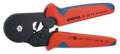KNIPEX 97 53 14 28-7 AWG Self-Adjusting Crimping Pliers w/ Lateral Access,