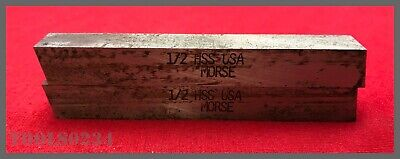 "Morse #4202S OR-BIT II Tool Bit - Square - HSS - 1/2"" x 4"" #28022 - Lot of 2!"