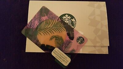 NEW! STARBUCKS Japan 2019 Summer Botanical Gift Card MINT w/Sleeve US Seller