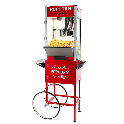 Paramount 16oz Commercial Popcorn Maker Machine & Cart - 16 oz Popper [Red]