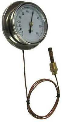 ZORO SELECT 13G233 Analog Panel Mt Thermometer,0 to 100F