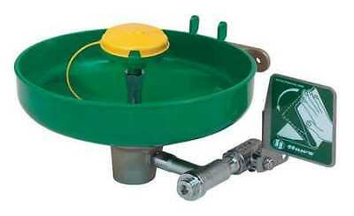 HAWS 7260B-7270B Wall-Mounted Eyewash Station with ABS Plastic Bowl in Green
