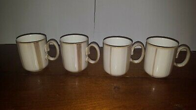 Denby TRUFFLE LAYERS COFFEE MUGS CUPS SET OF 4