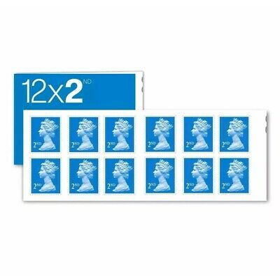 NEW 2nd Class Stamps MINT ROYAL MAIL x12 Postage Second Book Sheet V.QUICK POST