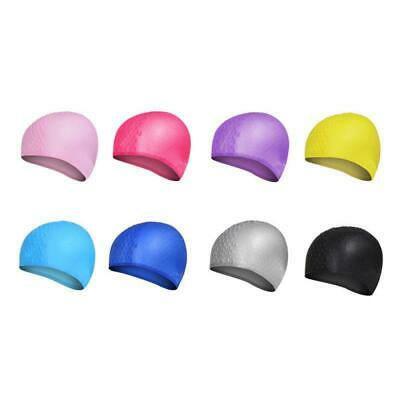 Unisex Adult  Kids Swimming Pool Cap Waterproof Silicone Shower Swimming Hat NEW