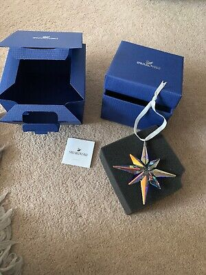 Genuine Swarovski Ab Crystal Star Ornament Brand New In Box