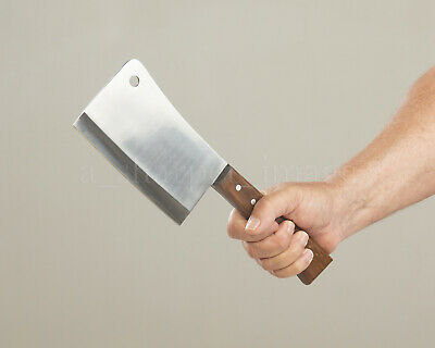 """12.5"""" Stainless Steel Meat Cleaver Chopper Butcher Chef Knife Home Defense Sharp"""
