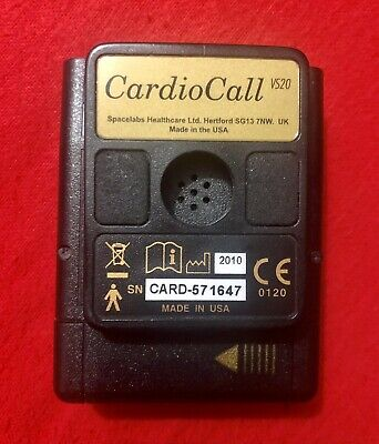 Spacelabs CardioCall VS20 - Dual Mode -Portable Heart Event Recorder ECG Patient