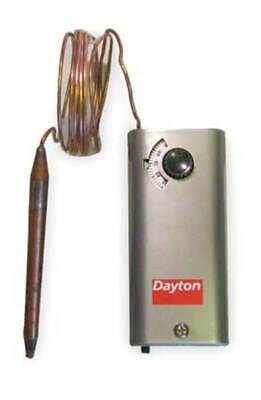 DAYTON 2NNT3 Line Volt Mechanical Tstat, Open/Close on Rise, 24 to 600VAC