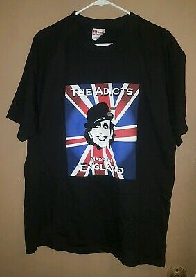 new THE ADICTS Logo British Punk Rock Band 80/'s Sound of music mens S to 4XLT