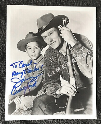 """Johnny Crawford 8""""x10"""" Signed Photo The Rifleman (with Chuck Connors)"""