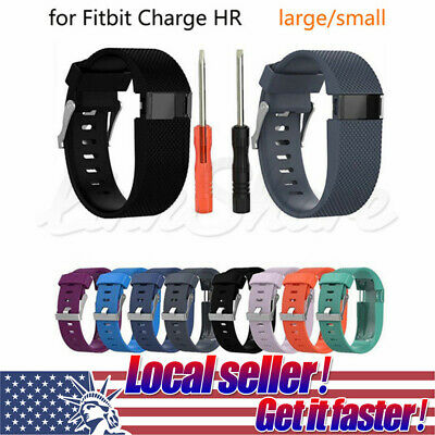 US Sport Silicone Replacement Wristband Watch Band Strap For Fitbit Charge HR ol