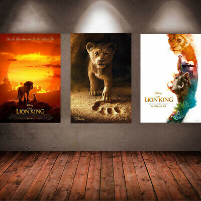 The Lion King Poster 2019 Movie Live Action Character Art Print Home Wall Decor