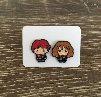Ron Weasley Hermione Earrings - Harry Potter Inspired Gryffindor Enamel Earrings