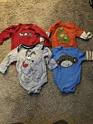 Baby Boy 6 Month Lot Of Body Suits, Disney, Jumping Bean, Pluto
