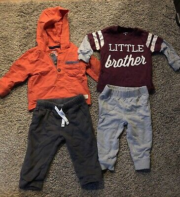 Carters Baby Boy 6 Month Outfit Lot, Little brother