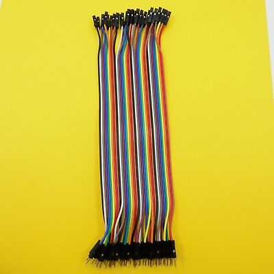 40pc 2.54mm Dupont Wire Line Jumper 20cm Cables 1P-1P Pin Male-Female Connector