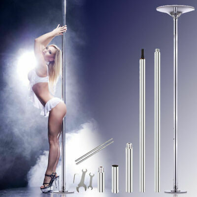 45mm Portable Stainless Steel Dance Pole Spinning Static Dancing Fitness New
