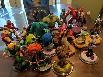Disney infinity Characters 1.0 2.0 3.0 Characters, Power Discs lot, and webcards