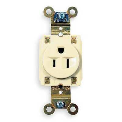 HUBBELL WIRING DEVICE-KELLEMS HBL5261I 15A Single Receptacle 125VAC 5-15R IV
