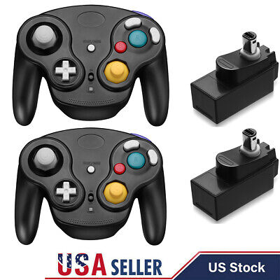 1/2x 2.4G Wireless Gamecube Controller With Adapter for Retro Classic Wii GC NGC