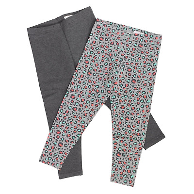 2 Pack Elastic Waist Kirkland Signature Cotton Leggings Pants for Girls