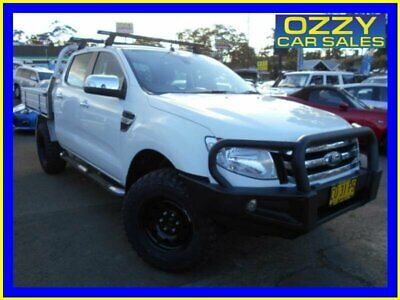2015 Ford Ranger PX XLT 3.2 (4x4) White Automatic 6sp A Dual Cab Utility