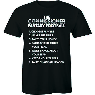 Fantasy Football Draft Shirt 2019 Commissioner Tee Funny Cool Game Sports Tshirt