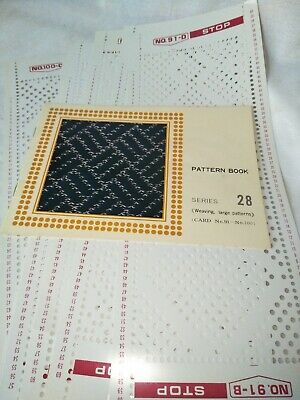 Knitting machine punch cards series 28