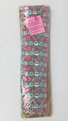 """Cute Owls ~ Cherry Pit Bag ~ Heat/Cold Muscle/Pain Relief ~ 20""""x6"""""""