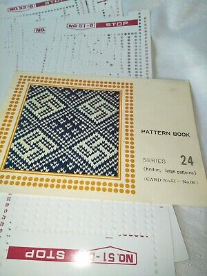 Knitting machine punch cards series 24