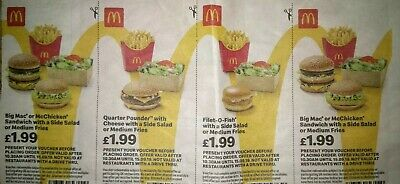 McDonalds Food Vouchers x 28 valid until 15.09.19
