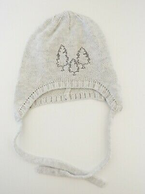 """""""Purebaby"""" Size 0-6m, Boys Adorable Grey Beanie, Great Condition, Bargain!"""