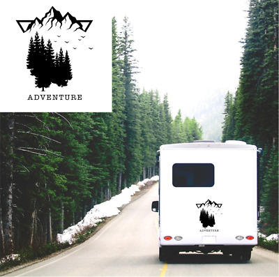 Adventure Caravan Sticker Motorhome Camper Truck Van Large Vinyl Decal Graphic