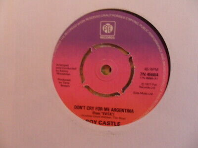 "Roy Castle  Dont Cry For Me Argentina  7"" Vinyl"
