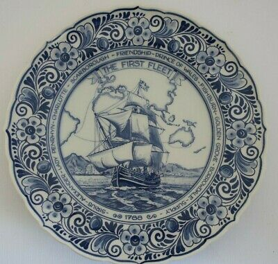 DELFTS Holland FIRST FLEET RE- ENACTMENT VOYAGE 1988 Bicentennial DISPLAY PLATE