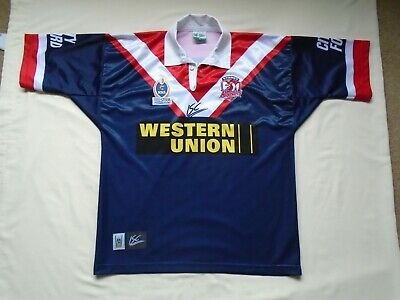 2db67d11 NRL Sydney Roosters ISC 2003/04 RARE vintage home Rugby league shirt XL/XXL