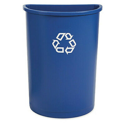 RUBBERMAID FG352073BLUE Untouchable(R) Half-Round Stationary Recycle Container
