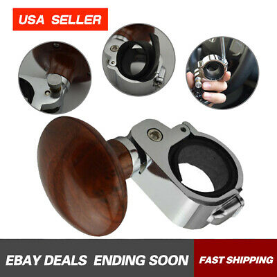 For Car Auto Steering Wheel Suicide Spinner Handle Knob Booster Brown 1PC NEW