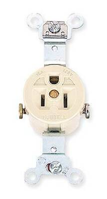 HUBBELL WIRING DEVICE-KELLEMS HBL5251I 15A Single Receptacle 125VAC 5-15R IV