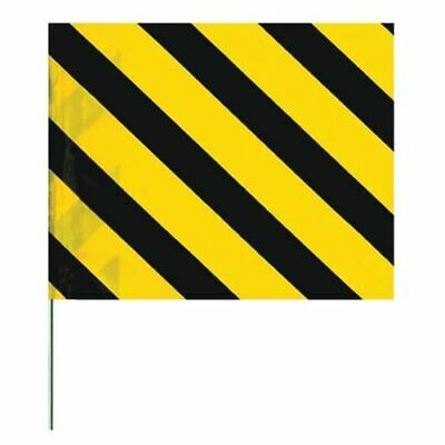 ZORO SELECT 4530SYBK-200 Marking Flag,Black/Yellow,Vinyl,PK100