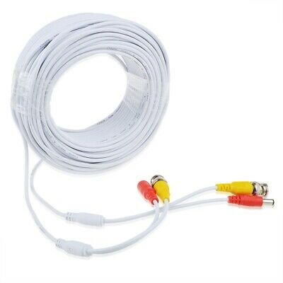 *2x25ft BNC Video and Power Extension Cable with Connector for Q-See HD Camera