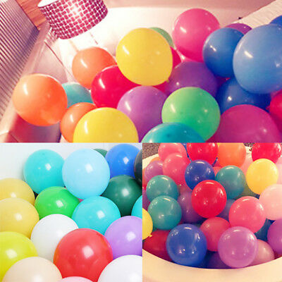 100 X 12 Inch Latex Helium Or Air Quality Balloons For Party Wedding Birthday Uk